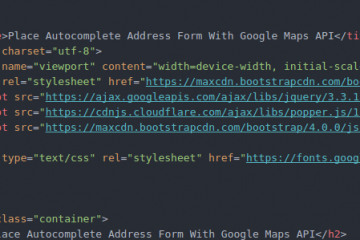 how to complete form with google maps api